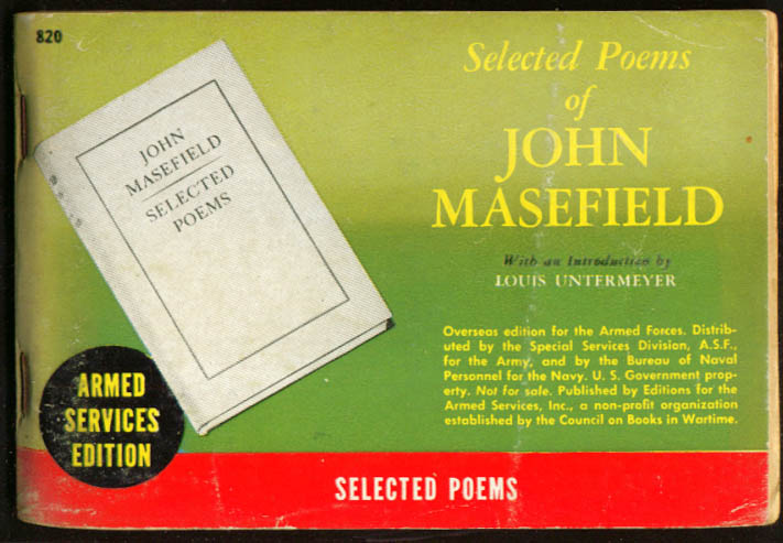 ASE 820 Selected Poems of John Masefield