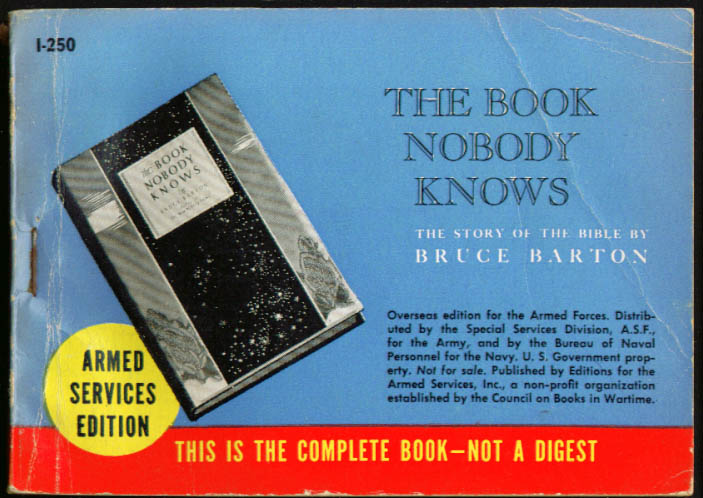 ASE I-250 Bruce Barton: The Book Nobody Knows