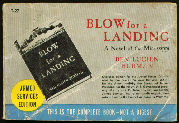 ASE T-27 Ben Lucien Burman: Blow for a Landing