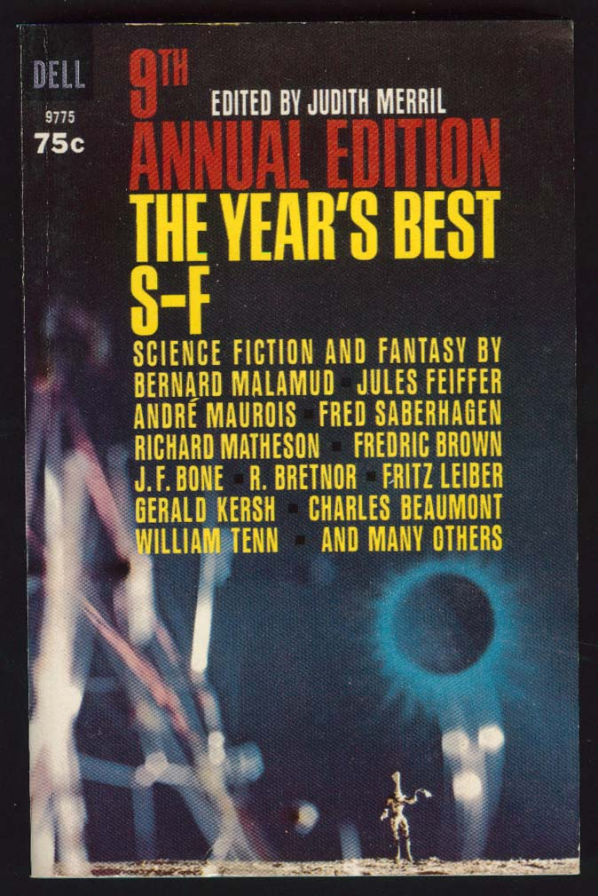 9th Annual Year's Best S-F 1st pb 1965 sci-fi cover by Three Lions