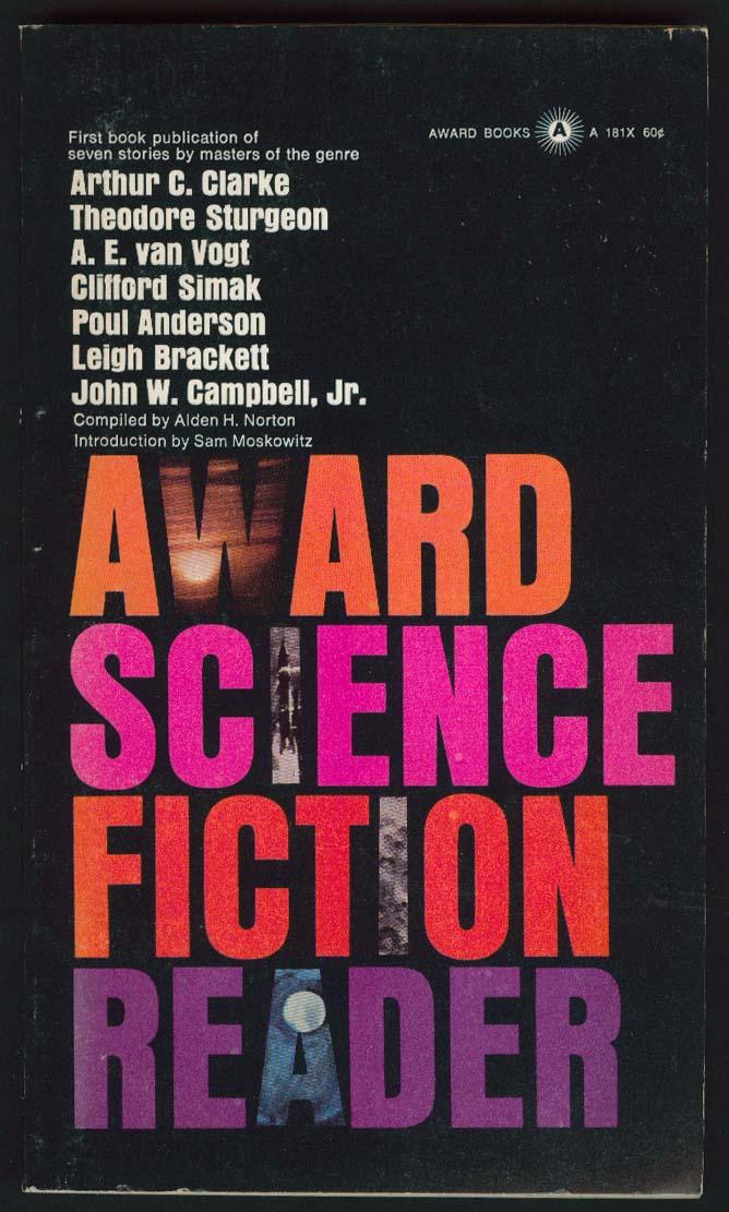 Arthur C Clarke Poul Anderson Leigh Brackett Award Science Fiction Reader 1st pb