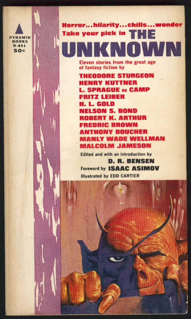 Asimov Sturgeon Leiber: The Unknown 1st pb ed 1963 sci-fi Edd Cartier