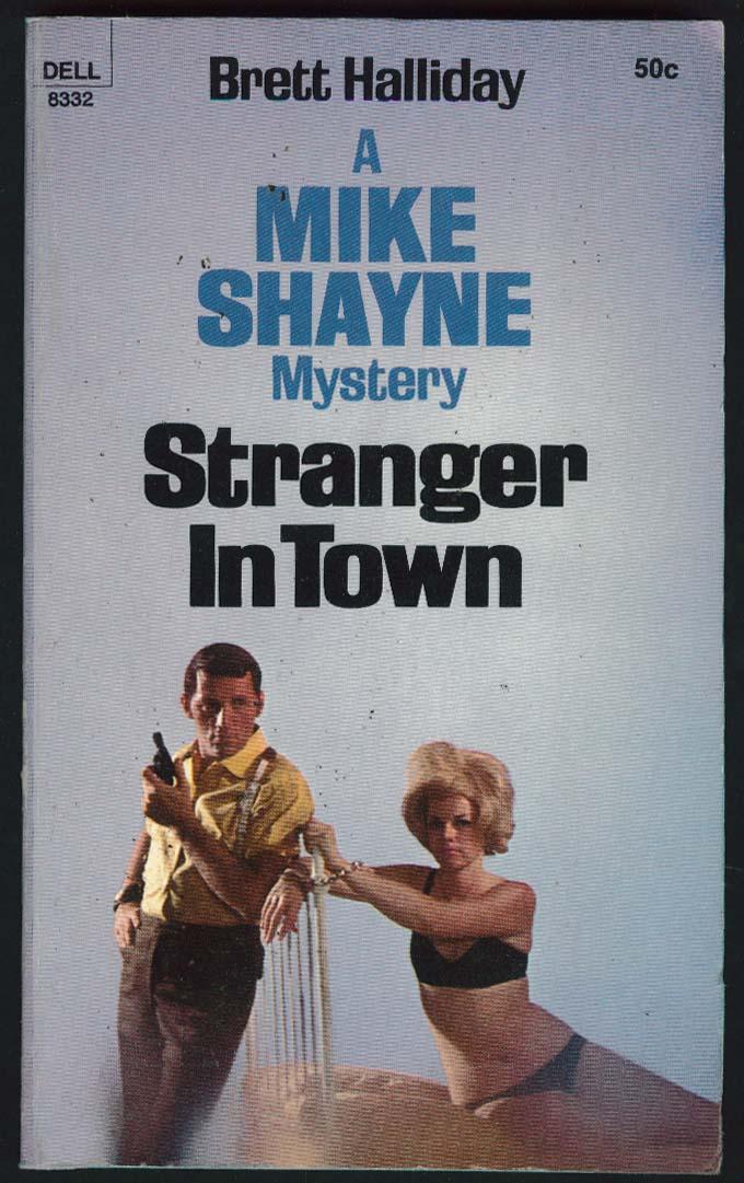 Brett Halliday: Stranger in Town Mike Shayne Mystery 1st pb ed 1969