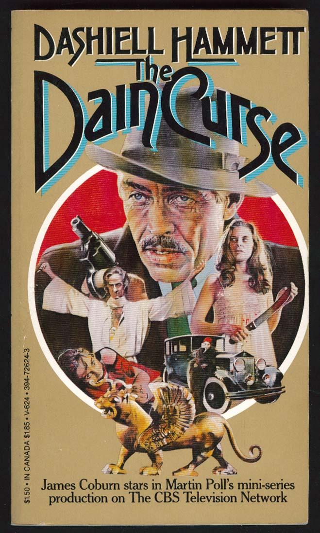 Dashiell Hammett: Dain Curse TV tie-in pb 1st 1972 James Coburn