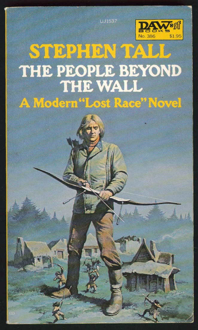 Stephen Tall: People Beyond the Wall PBO 1st ed 1980 sci-fi Gino D'Achille