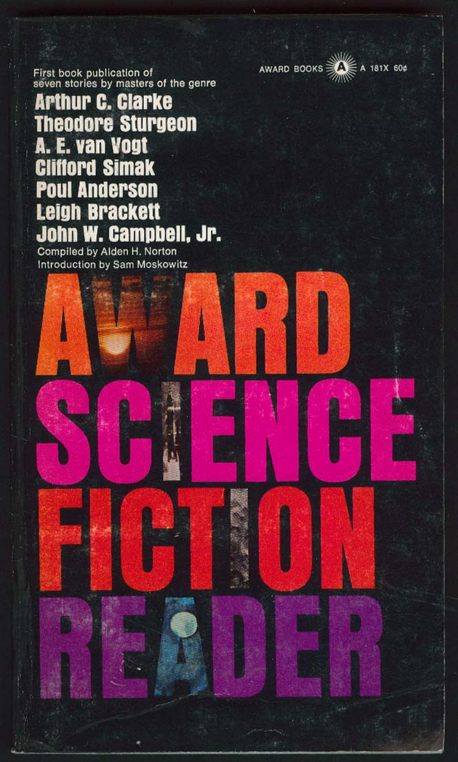 Clarke Sturgeon Poul Anderson Brackett: Award Science Fiction Reader 1st ed 1966