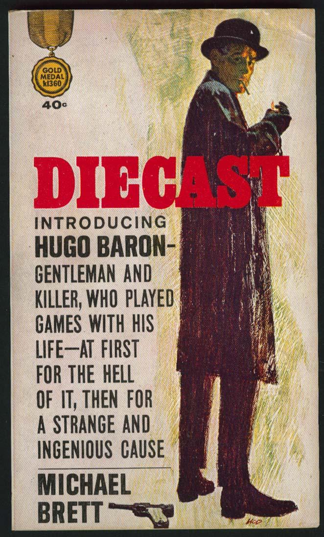 Michael Brett: Diecast PBO 1st ed 1963 cover art by McD