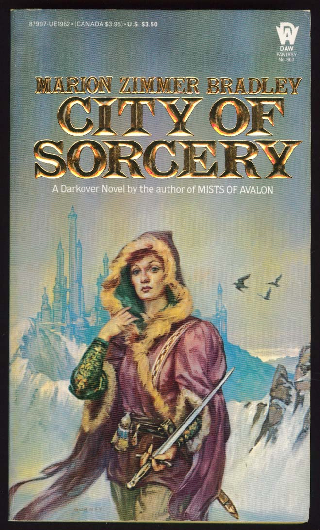 Marion Zimmer Bradley: City of Sorcery PBO 1st 1984 sci-fi cover by James Gurney