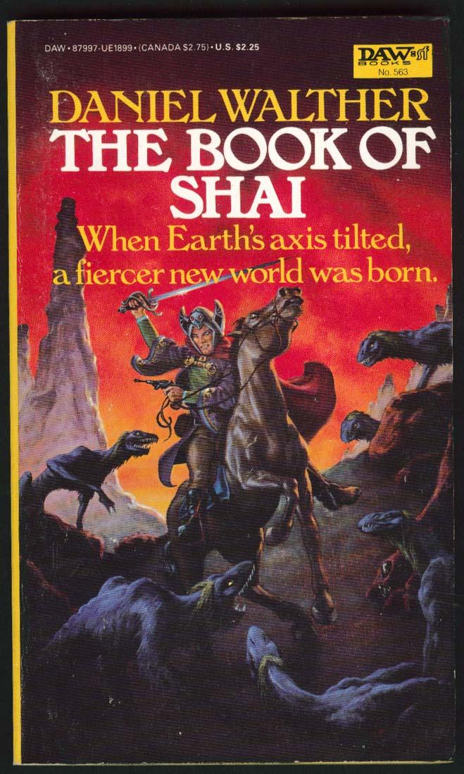 Daniel Walther: The Book of Shai 1st pb ed 1984 sci-fi