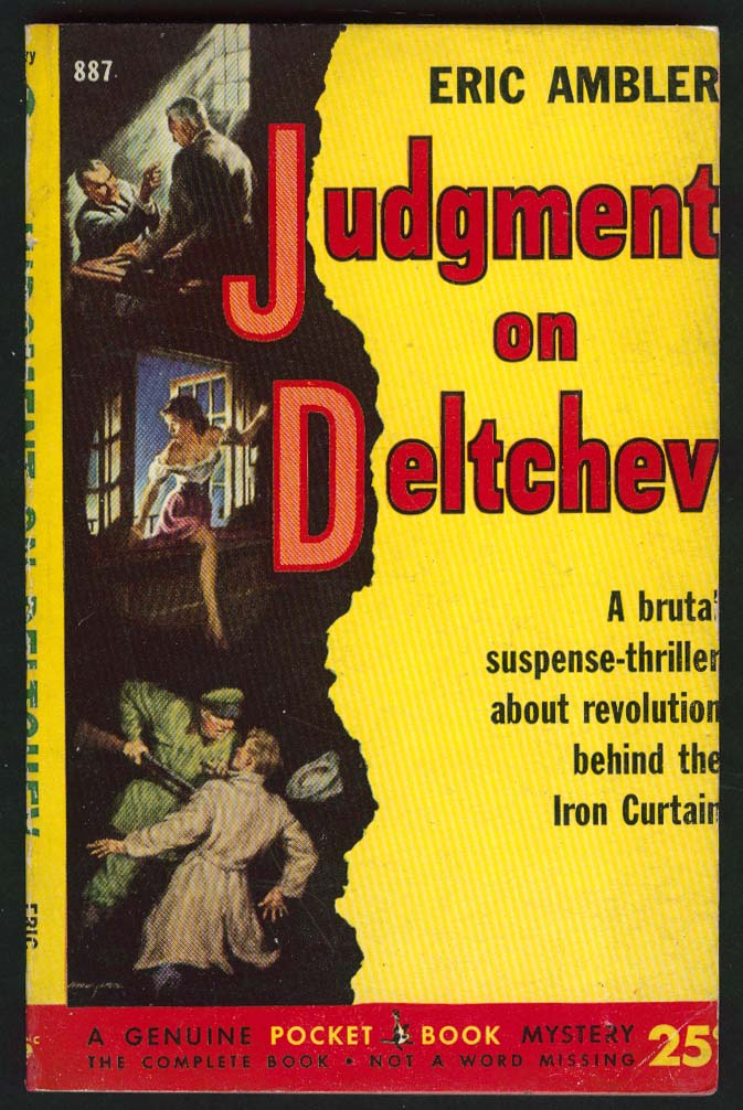 Eric Ambler: Judgment on Deltchev 1st pb ed 1952 GGA cover by George Mayers