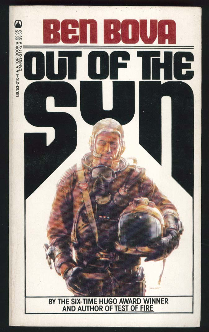Ben Bova: Out of the Sun PBO 1st ed 1984 sci-fi cover art by Jim Gurney