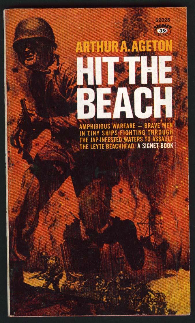 Arthur A Ageton: Hit the Beach PBO 1st ed 1961 war