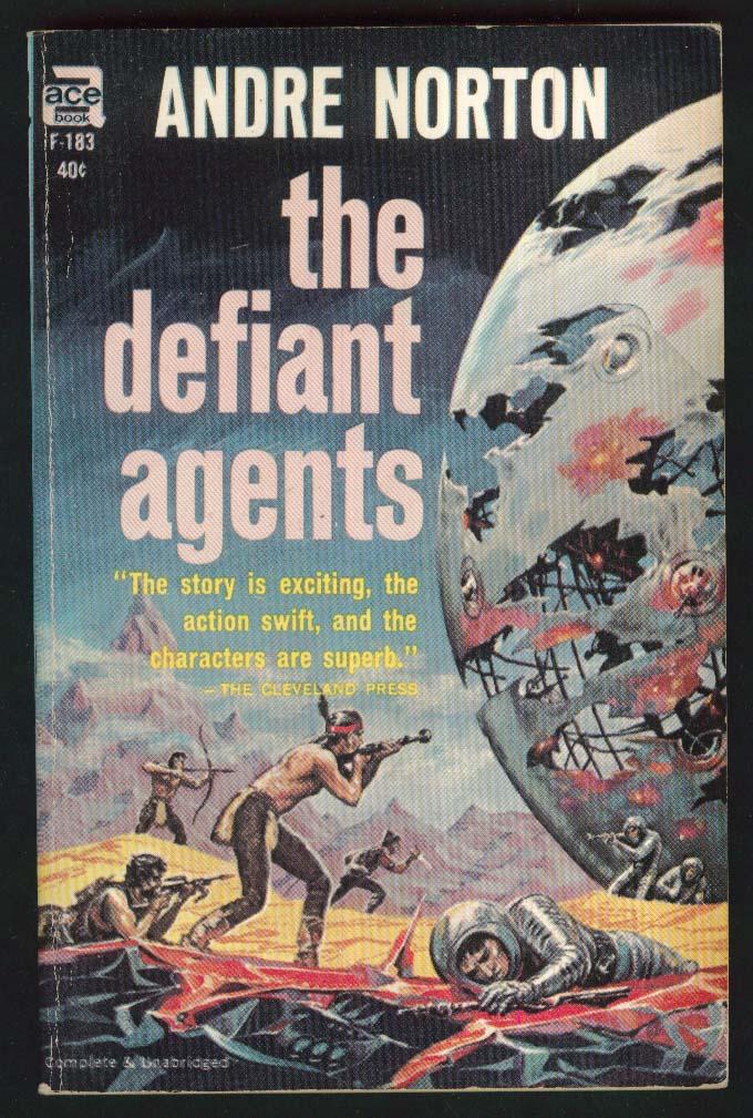 Andre Norton: The Defiant Agents sci-fi pb 1962
