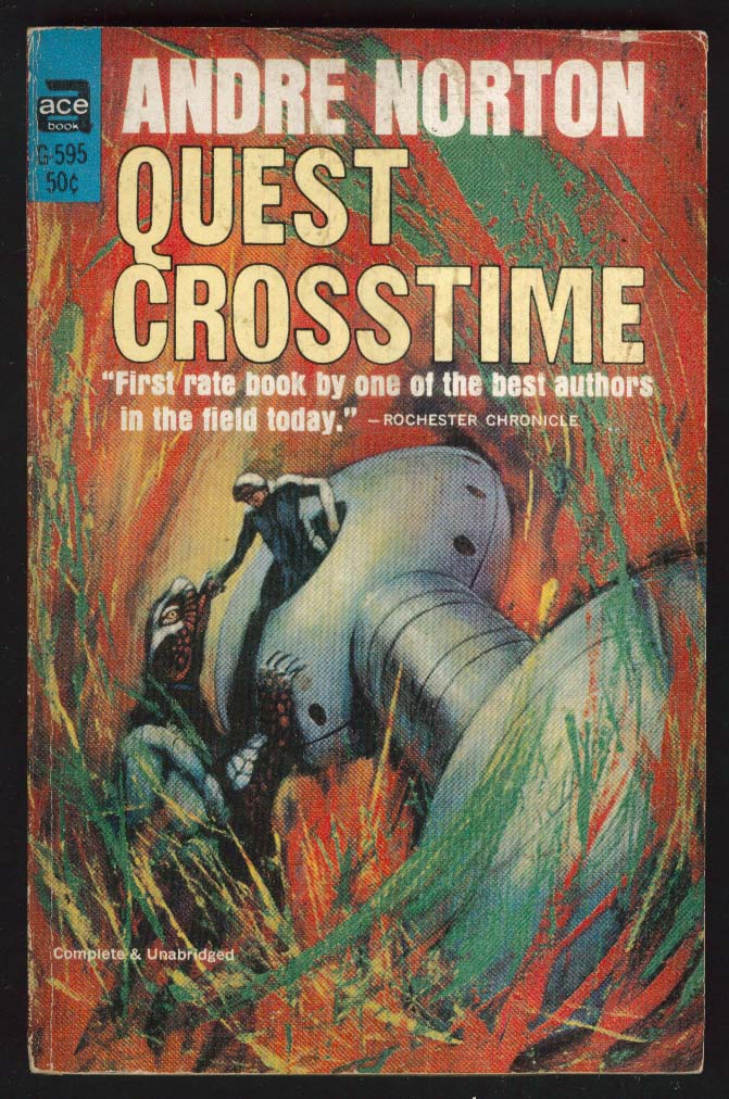 Andre Norton: Quest Crosstime 1st pb ed 1965 Jack Gaughan sci-fi cover art