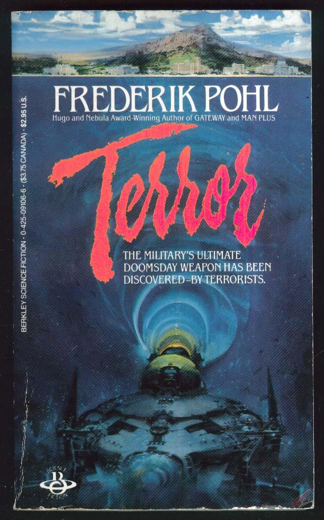 Frederik Pohl: Terror PBO 1986 Berkey sci-fi cover art