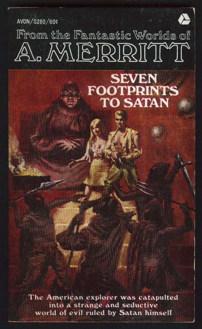 A Merritt: Seven Footprints to Satan 11th printing 1968 Doug Rosa GGA cover art