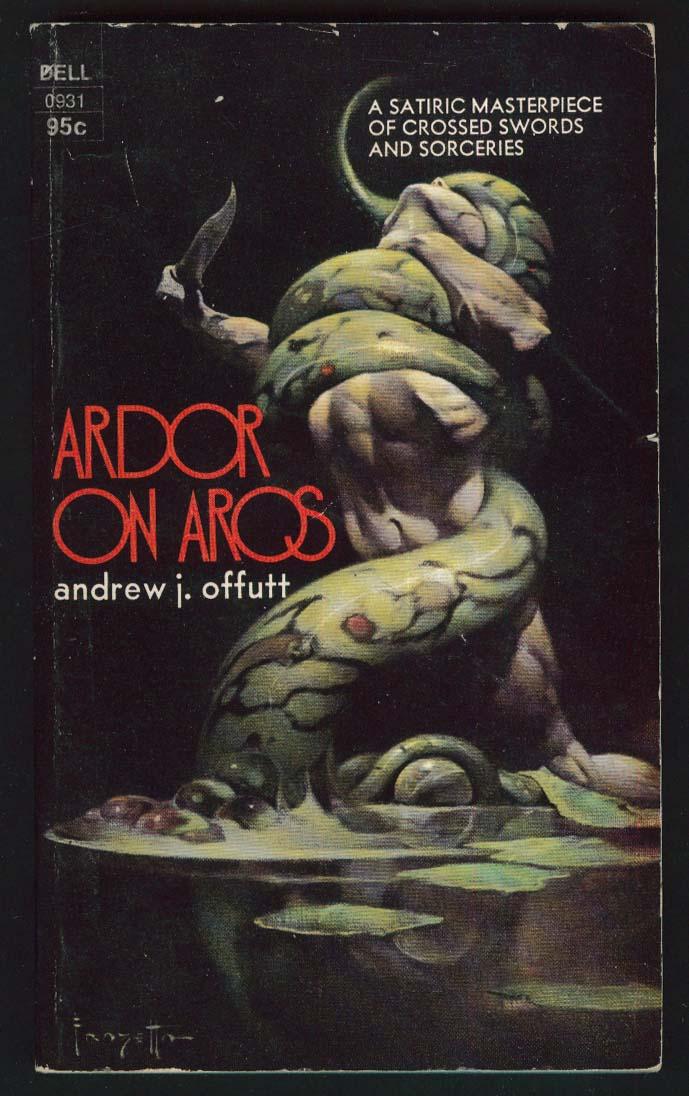 Andrew J Offutt: Ardor on Aros sci-fi PBO 1st 1973