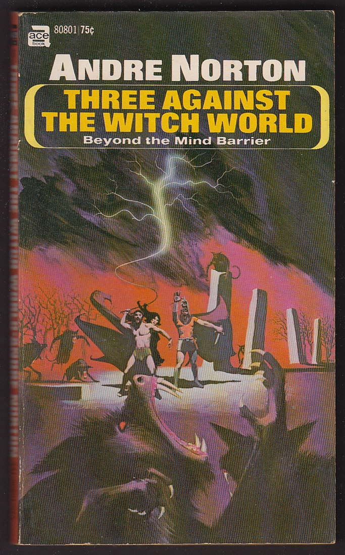 Andre Norton: Three Against the Witch World pb 1st ed 1965 sci-fi