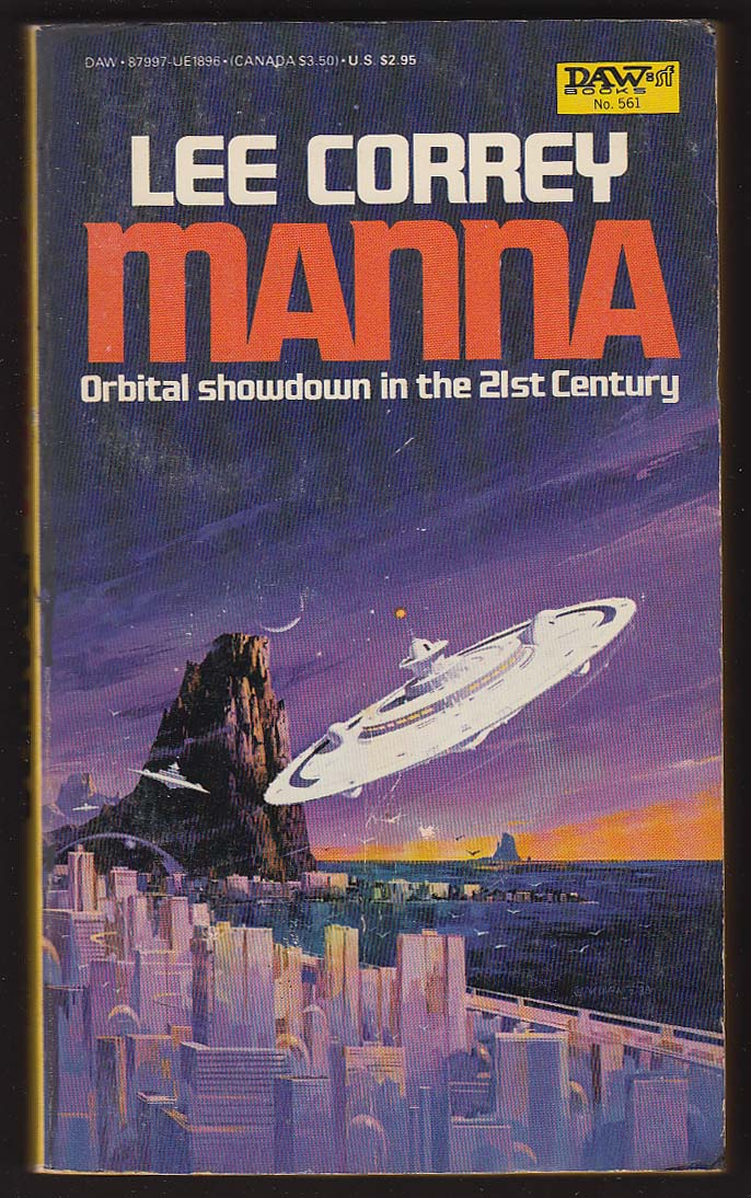 Image for Lee Correy: Manna PBO 1st 1984 sci-fi cover art by Vincent Di Fate
