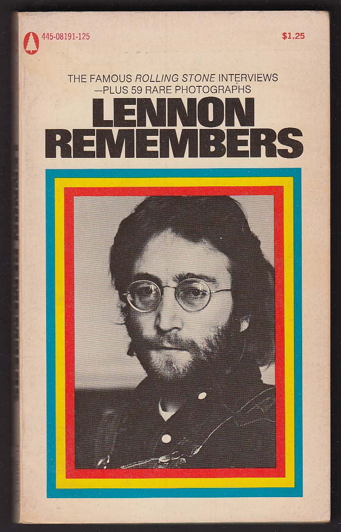 Lennon Remembers: John Lennon Rolling Stone Interviews pb 1st ed 1971