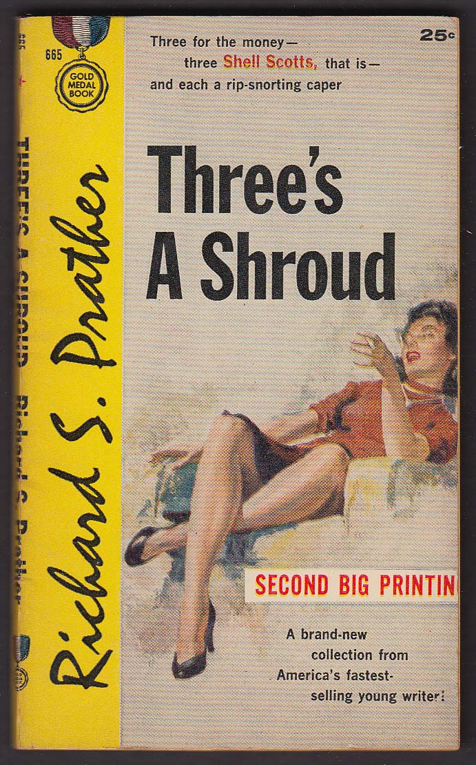 Richard S Prather: Three's A Shroud 2nd Printing 1958 GGA pb