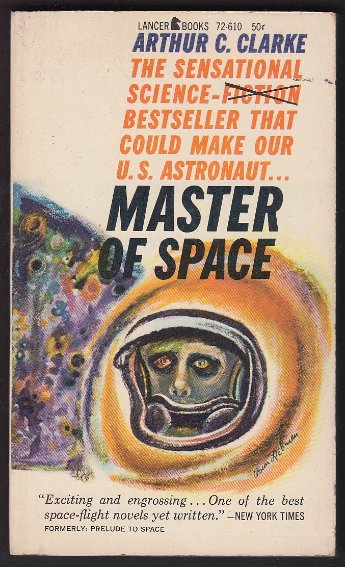 Arthur C Clarke: Master of Space sci-fi pb 1961 cover art by