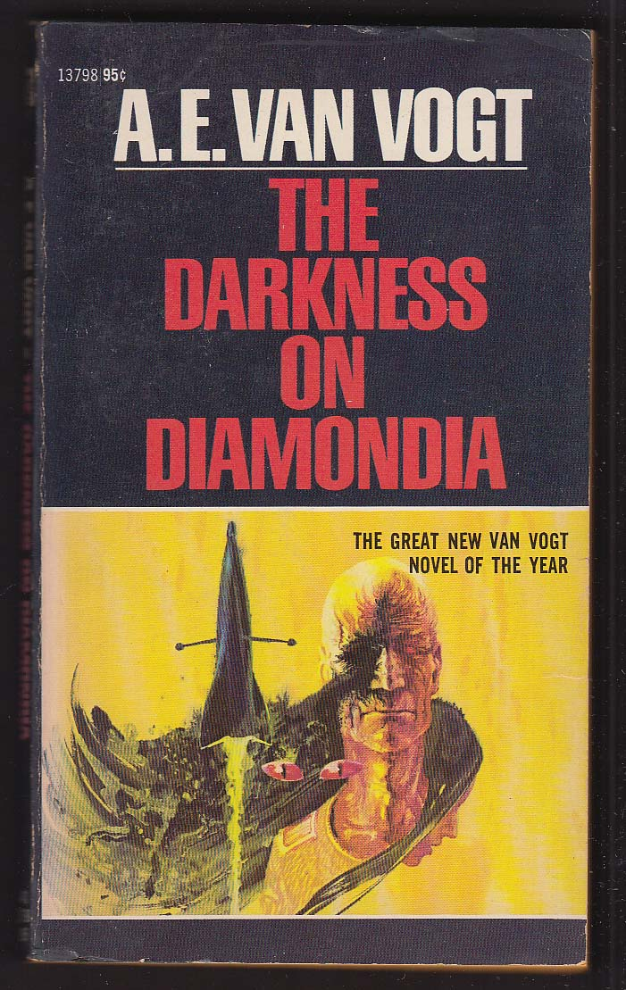 A E Van Vogt: The Darkness on Diamondia 1972 pb sci-fi cover by John Schoenherr