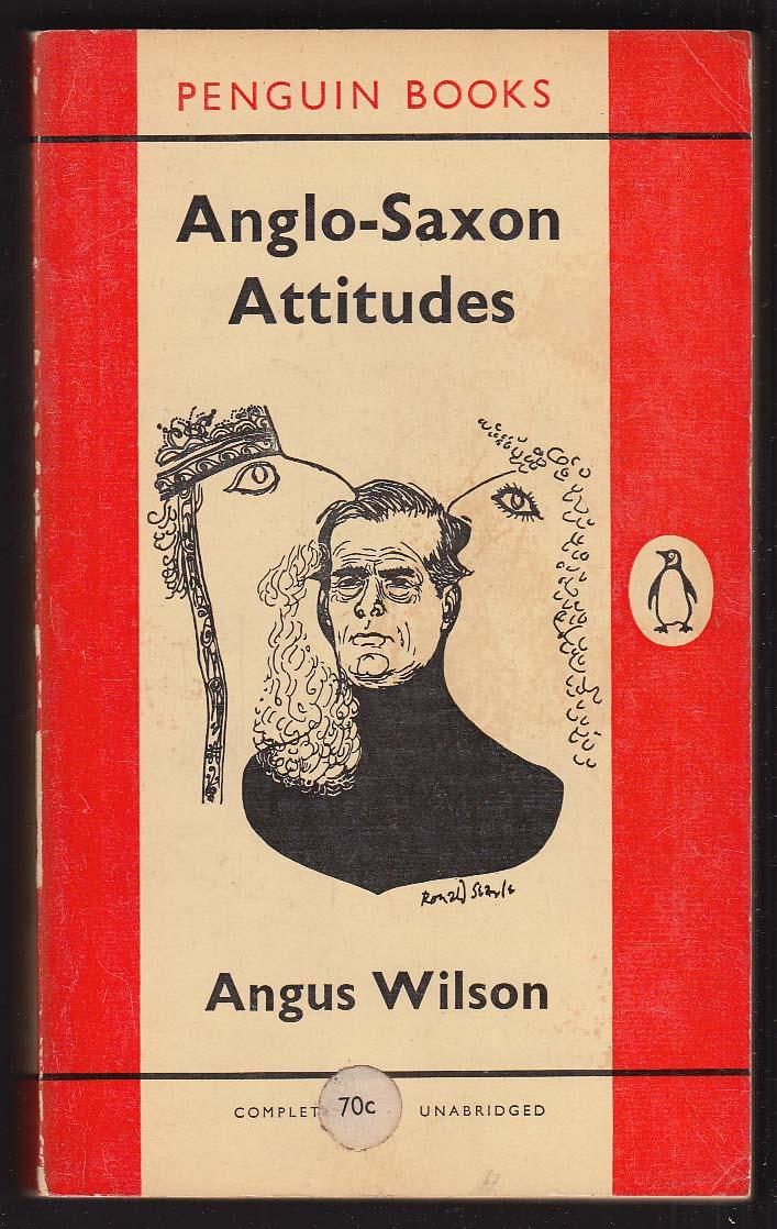 Angus Wilson: Anglo-Saxon Attitudes 1958 pb Ronald Searle cover