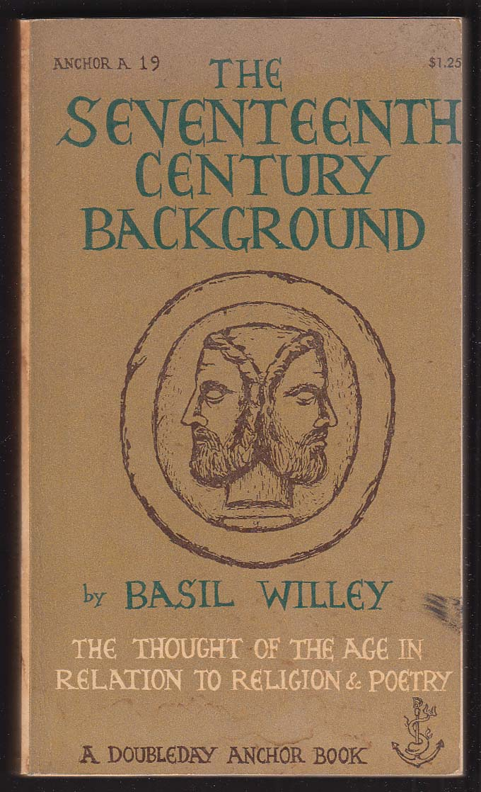 Basil Willey: The Seventeenth Century Background 1953 pb Consuelo Joern cover