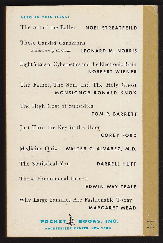 PB #2 Pocket Book Magazine: Allan Nevins Martin Gardner Margaret Mead + 1955 pb