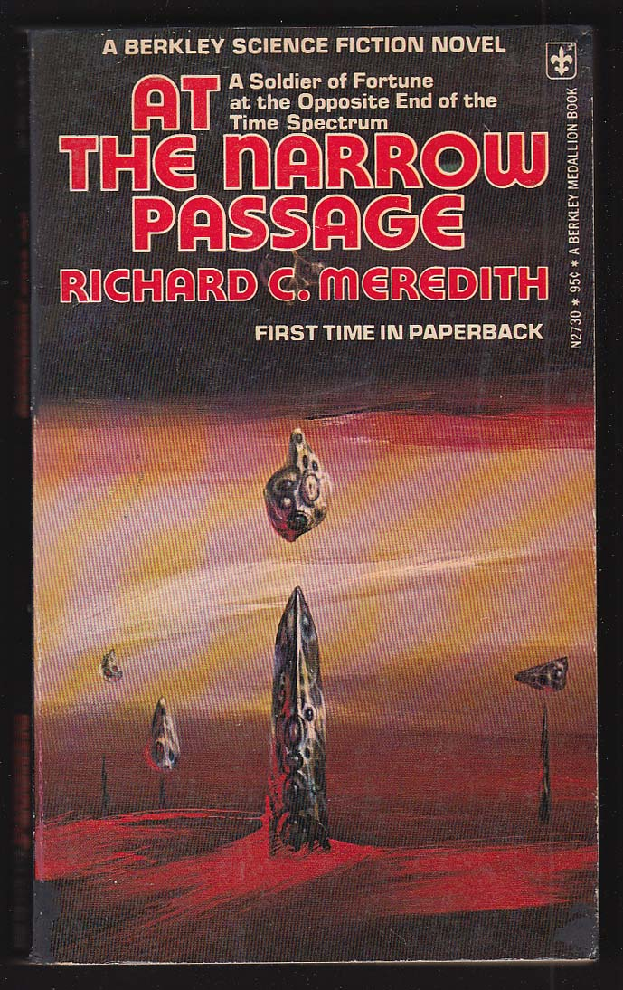 Ricahrd C Meredith: At The Narrow Passage 1975 sci-fi pb Richard Powers cover