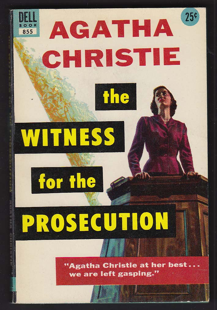 Agatha Christie: Witness for the Prosecution 1953 pb GGA cover by William George