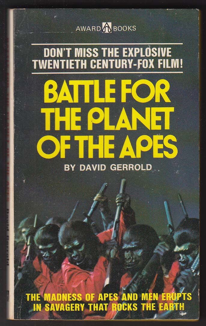 David Gerrold: Battle for the Planet of the Apes movie tie-in pb 1973