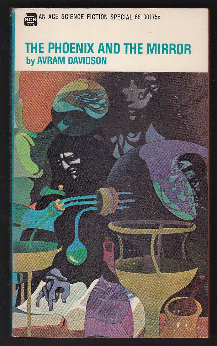 Avram Davidson: Phoenix and the Mirror 1969 SF pb Leo & Diane Dillon cover art