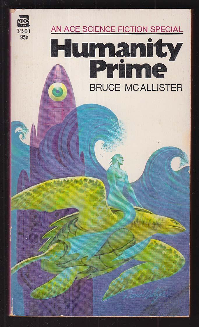 Bruce McAllister: Humanity Prime PBO 1st 1971 Davis Meltzer sci-fi cover art