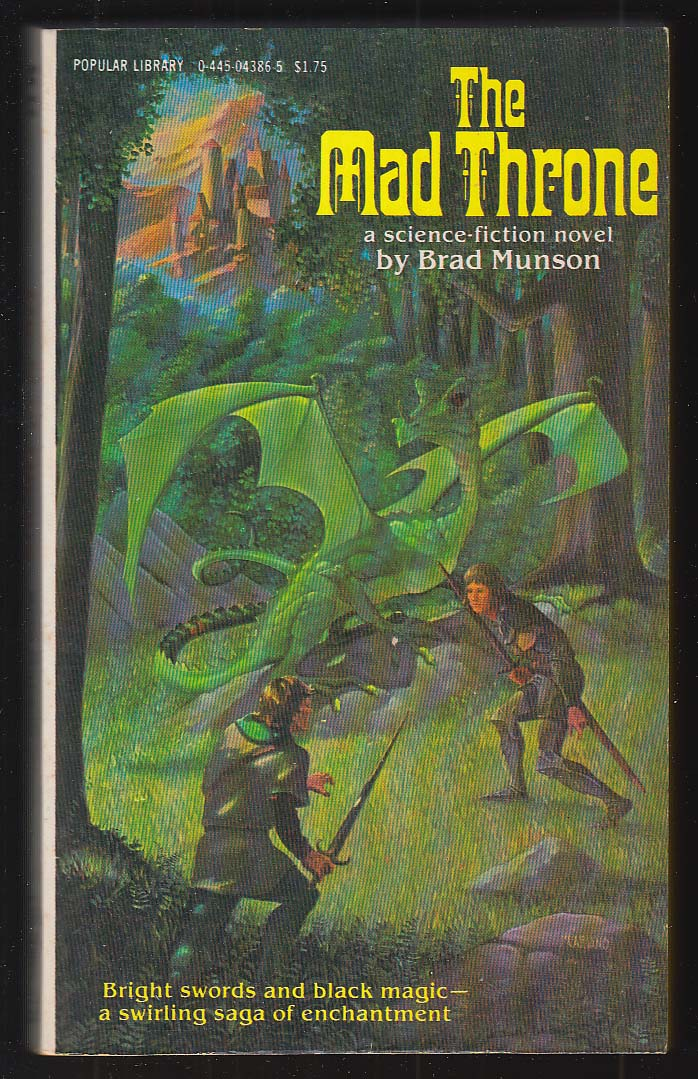 Brad Munson: The Mad Throne PBO 1st 1979 Mariano cover art