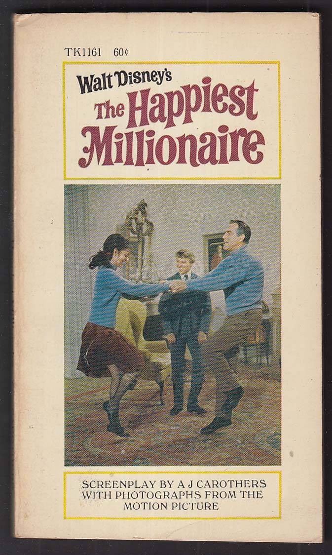 A J Carothers: Walt Disney's The Happiest Millionaire 1967 pb