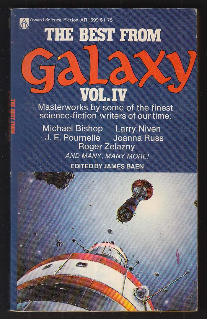 Best from Galaxy Vol 4: Pournelle Zelazny + 1st pb ed 1976 Sternbach cover