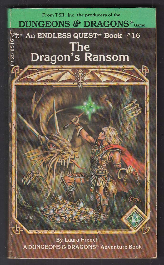 Laura French: Dungeons & Dragons Endless Quest #16 Dragon's Ransom PBO 1st 1984