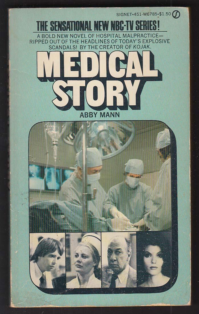 Abby Mann: Medical Story NBC-TV tie-in PBO 1st 1975 Beau Bridges +
