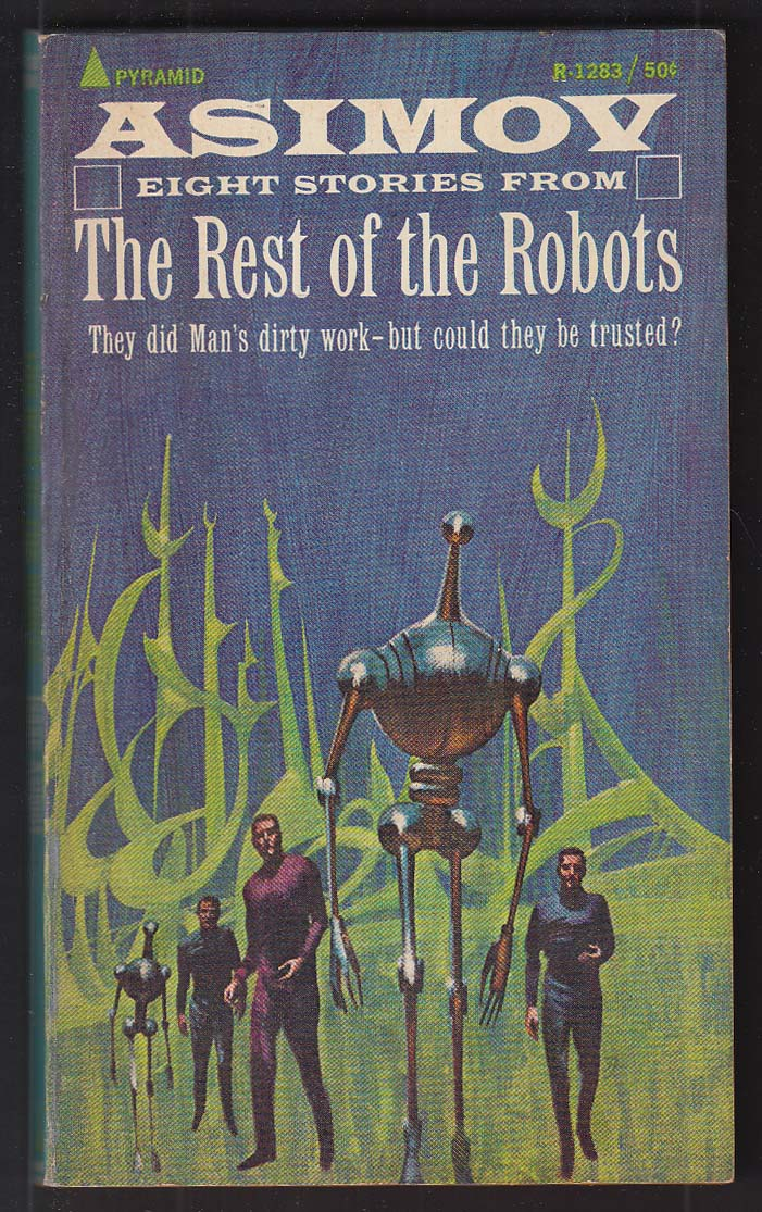 Asimov: The Rest of the Robots 1st pb ed 1966 Jack Gaughan cover art