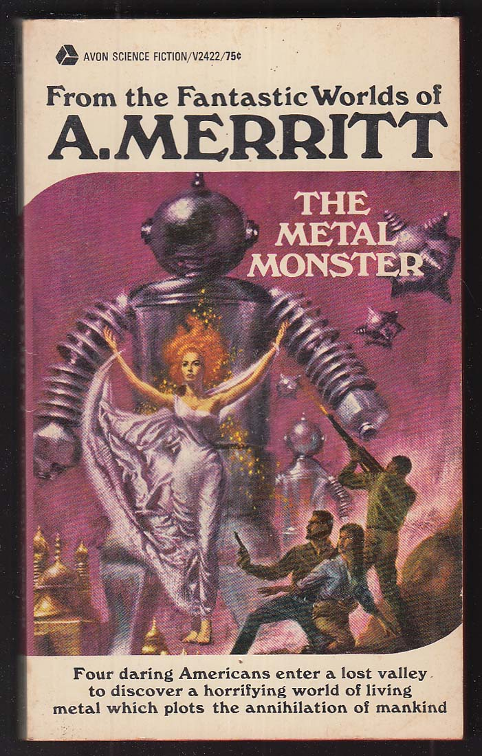 A Merritt: The Metal Monster sci-fi pb 5th printing 1972 GGA