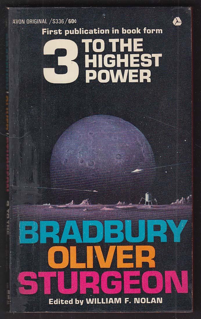 3 to the Highest Power: Bradbury Oliver Sturgeon 1st pb ed 1963