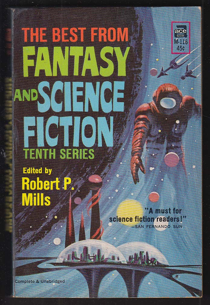 Best from Fantasy & Science Fiction 10th Series 1961 pb Jack Gaughan cover