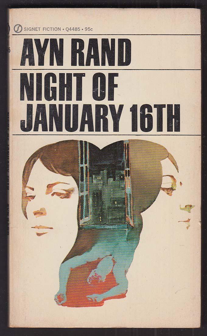 Ayn Rand: Night of January 16th 1st pb ed 1971 GGA