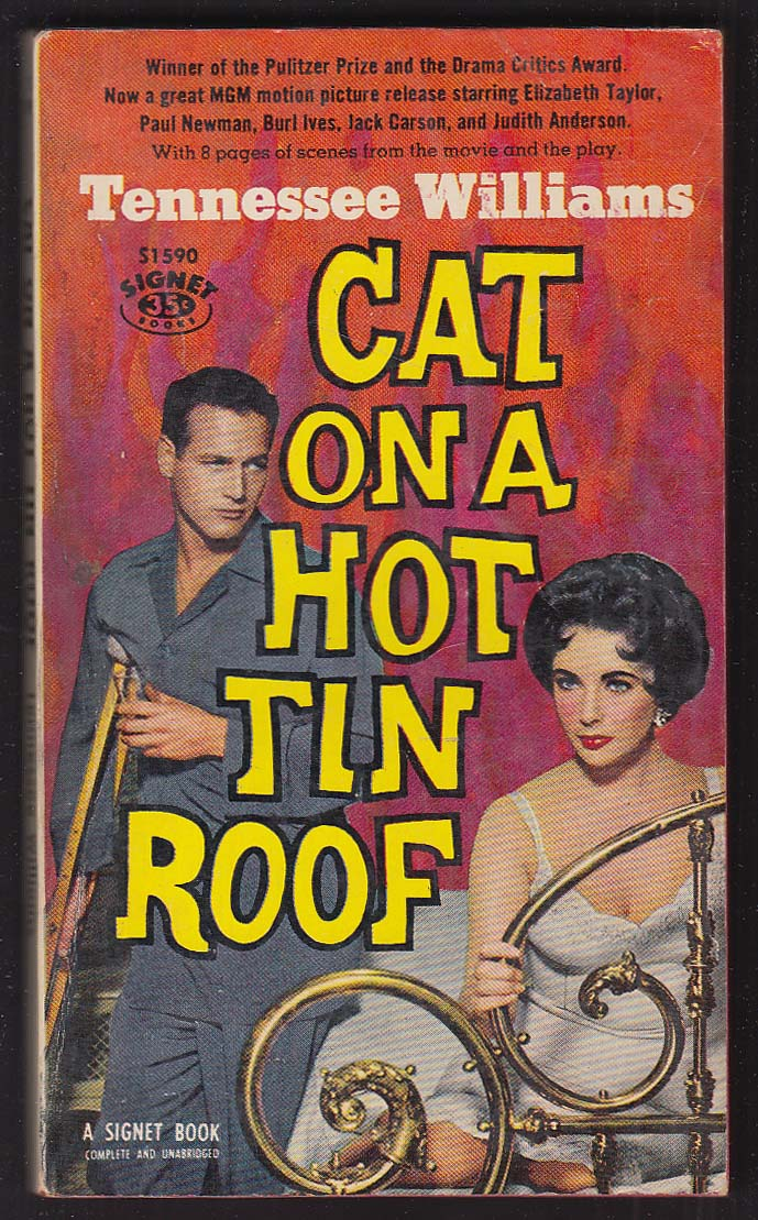 the symbolism of the title in tennesee williams play cat on a hot tin roof Tennessee williams' 1955 play cat on a hot tin roof is one of the america dramatist's most well-known and popular plays, having been revived numerous times on broadway and in london's west end originally opening on broadway at the morosco theater on 24 march 1955 in a production that.