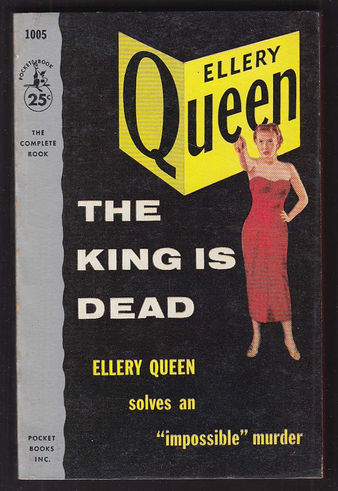 Ellery Queen: The King is Dead 1954 pb GGA