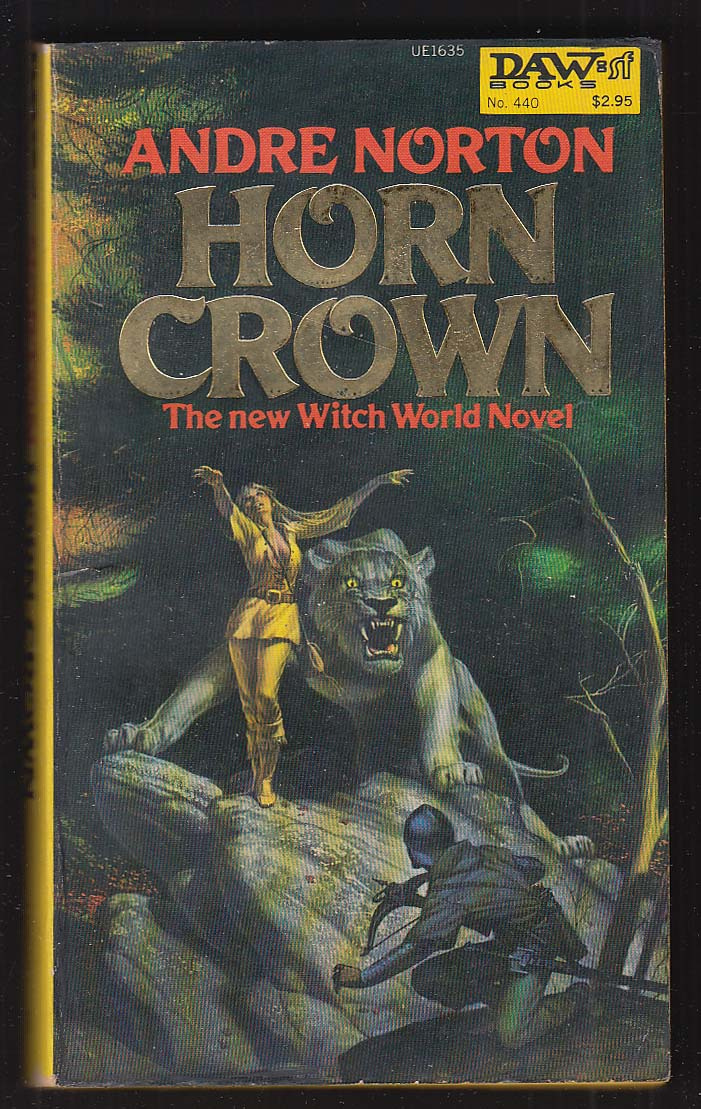 Andre Norton: Horn Crown PBO 1st 1981 GGA cover by Michael Whelan