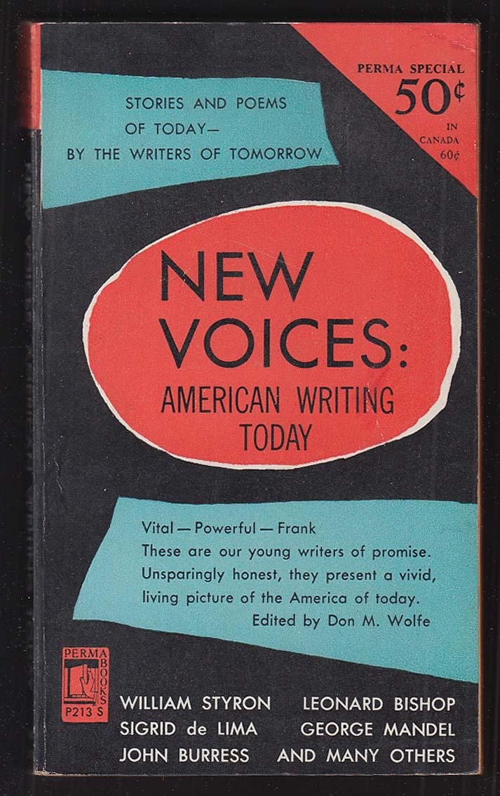 New Voices American Writing Today: William Styron Mario Puzo ++ 1953 pb