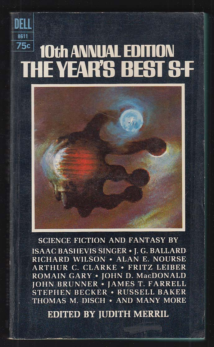 10th Annual Year's Best S-F: Ballard Clarke Leiber ++ 1st pb ed 1966
